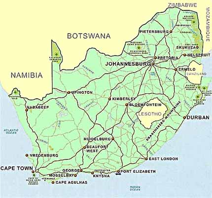 ajor cities of South Africa