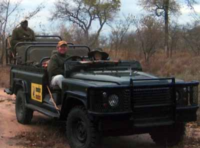Nancy and Nate Berger in LandRover South Africa