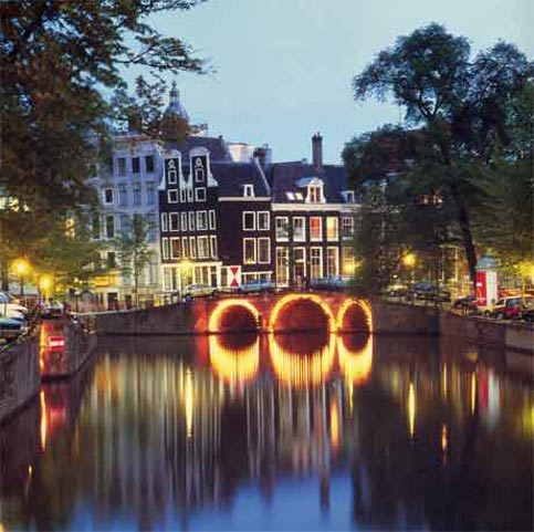 awesome view of Amsterdam in the netherlands