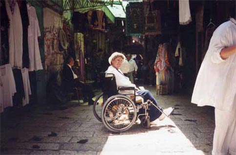 Disabled Travelers can enjoy the markets of Morocco
