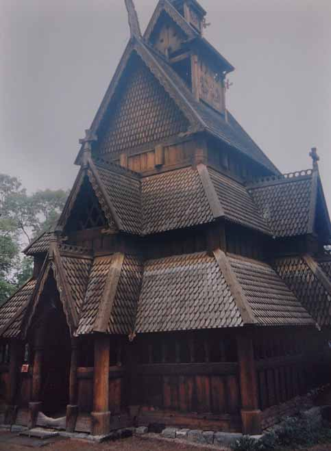 Disabilities do not keep Nate and Nancy Berger from stave church Norway